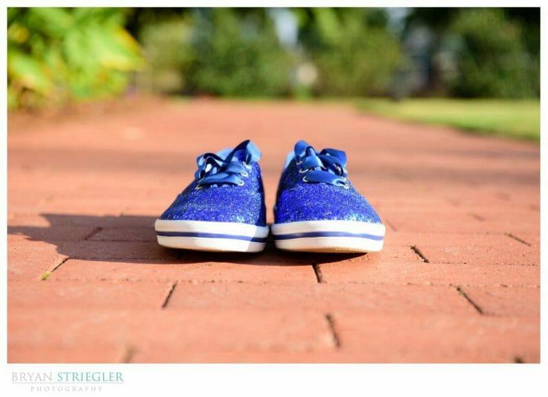 Blue toms wedding shoes
