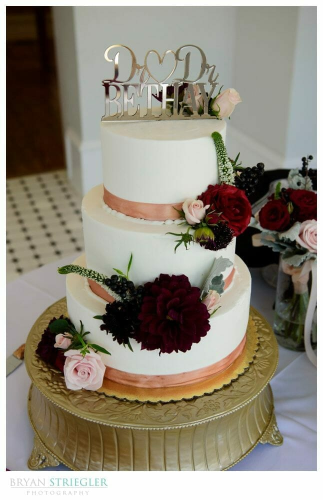 wedding cake with different flavors