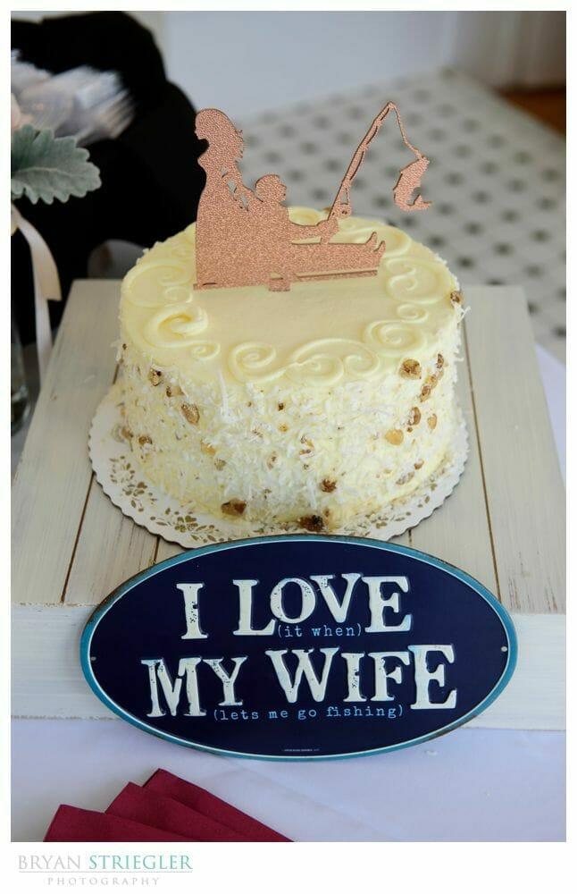 fishing groom cake