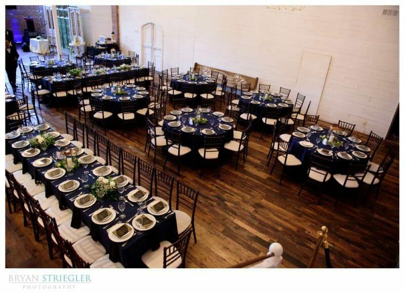 reception setup at the Ravington