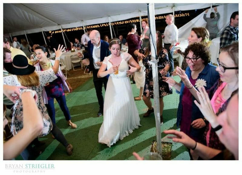 bride partying at wedding