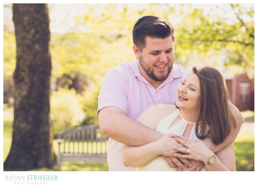 laughing engagement photos