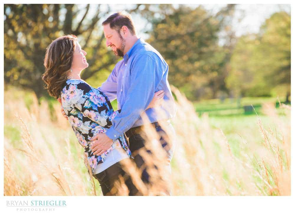 engagement photo in high grass