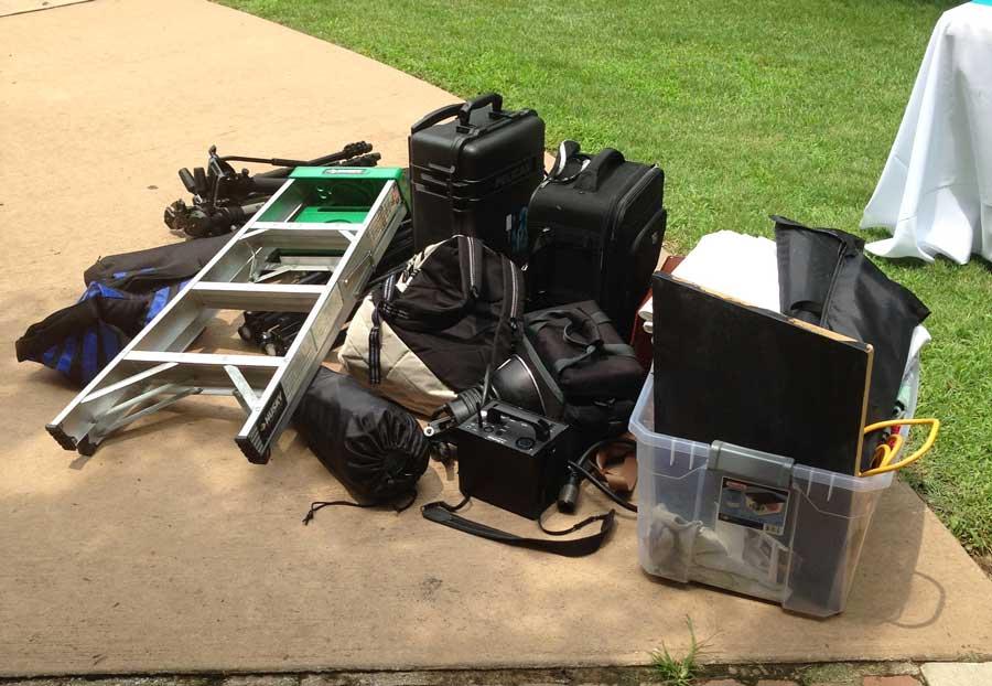 Lots of camera equipment