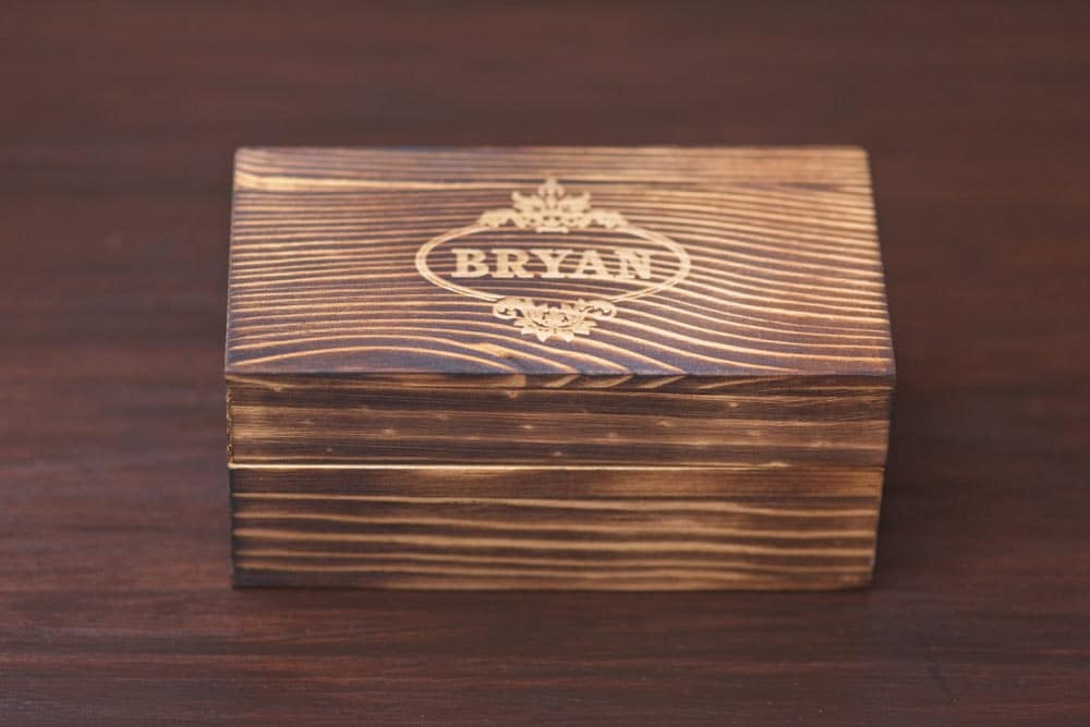 wood box for cuff links