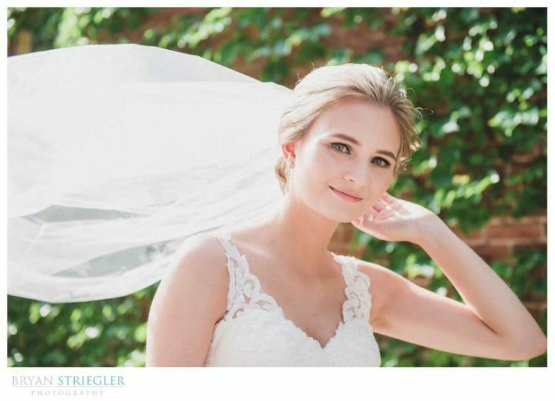 bridal portraits at the Brick Ballroom