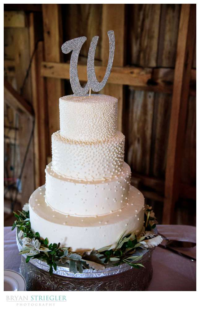 wedding cake with dots