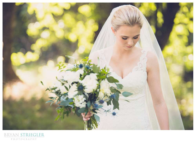 bride at wedding