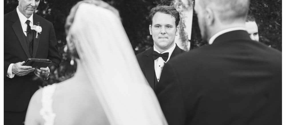 groom seeing the bride