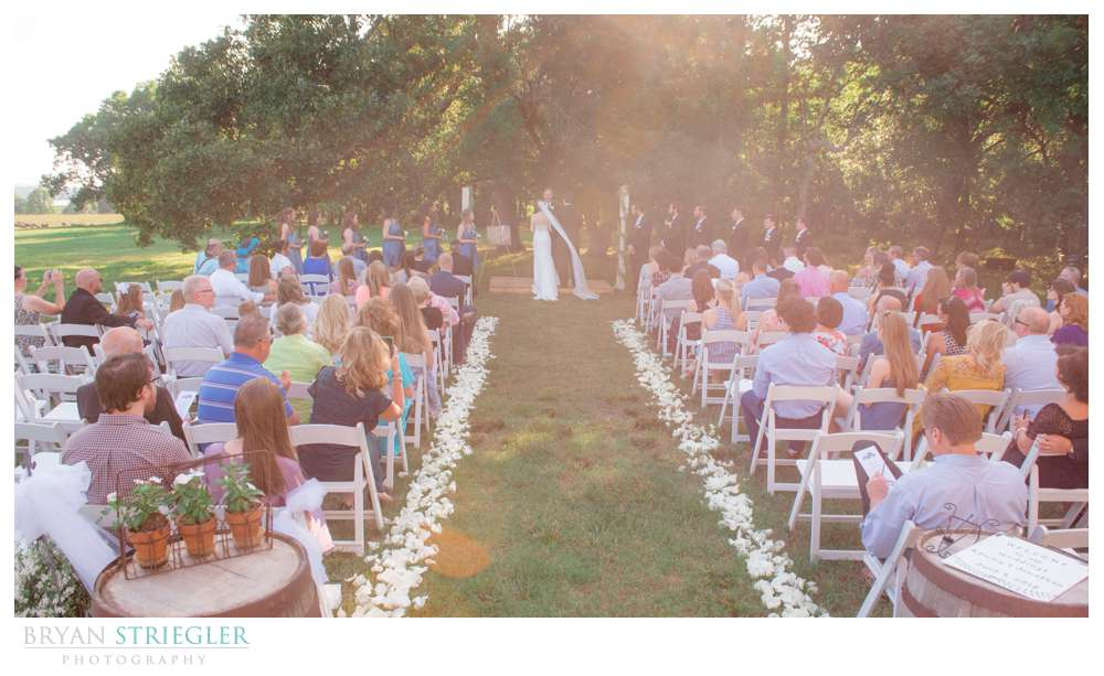 outside ceremony at Barn at Hat Creek Ranch