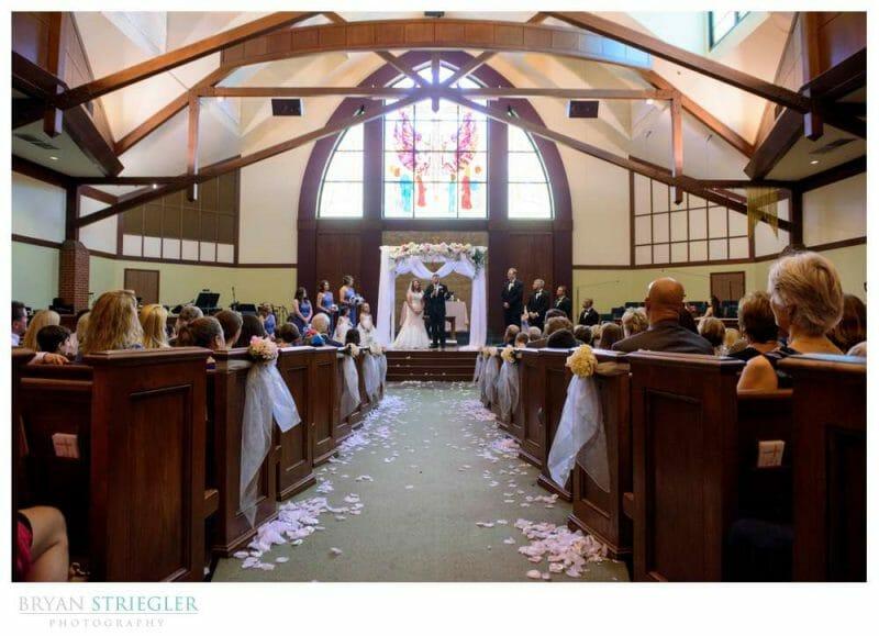 wide shot of Van Buren Wedding