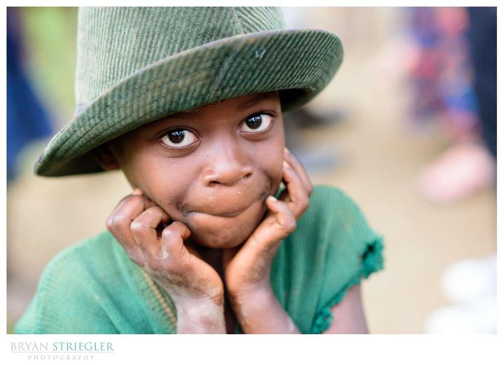 close up of Rwanda boy