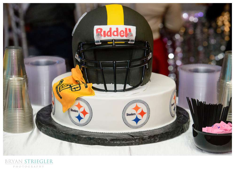 Steeler's wedding cake