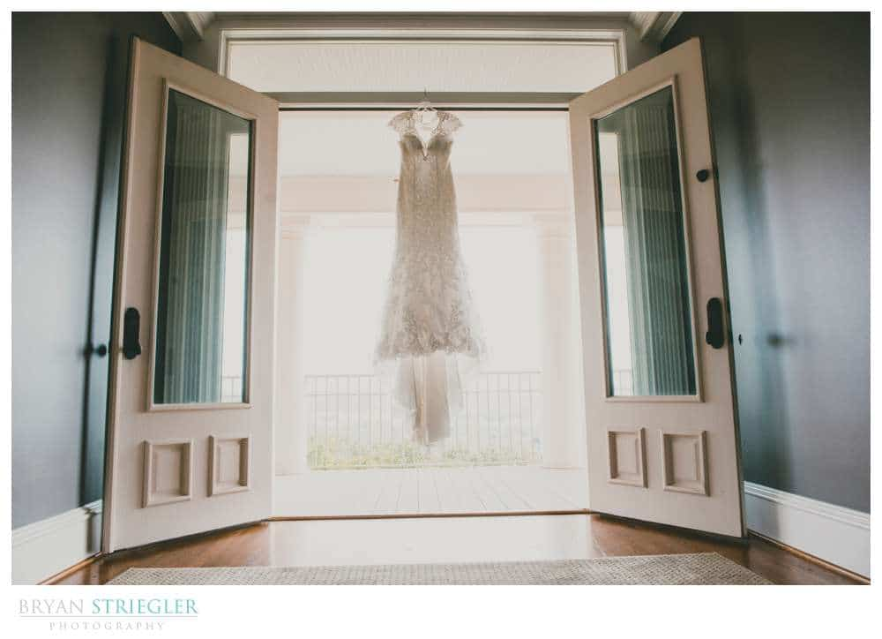 dress hanging in Autumn's Ridge