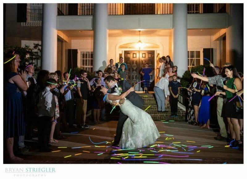 glow stick exit at Autumn's ridge wedding