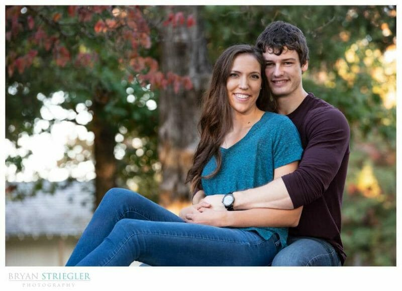 engagement session in Prairie Grove
