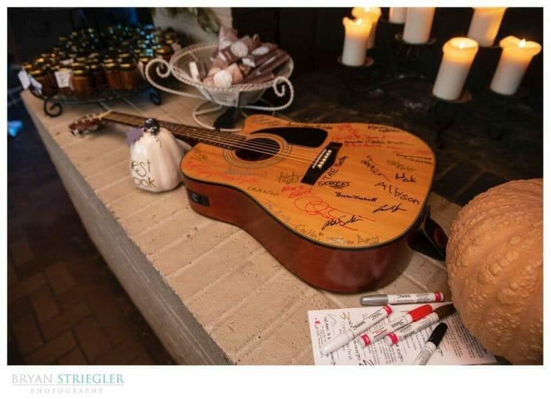signed guitar for wedding