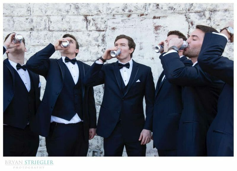 guys chugging beers