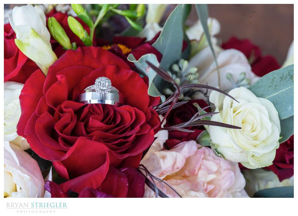 ring shot in bouquet
