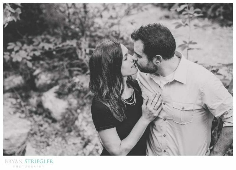 black and white engagement photo with Sony a7iii