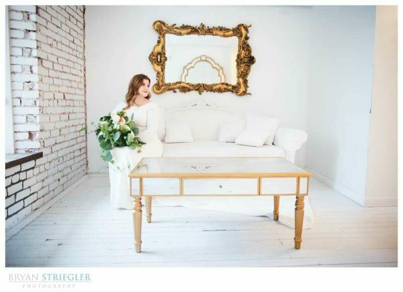white bridal suite