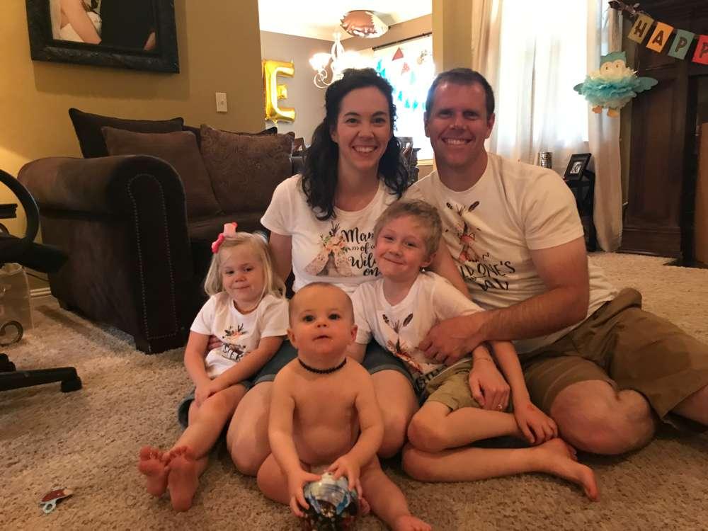family photo during 1st birthday