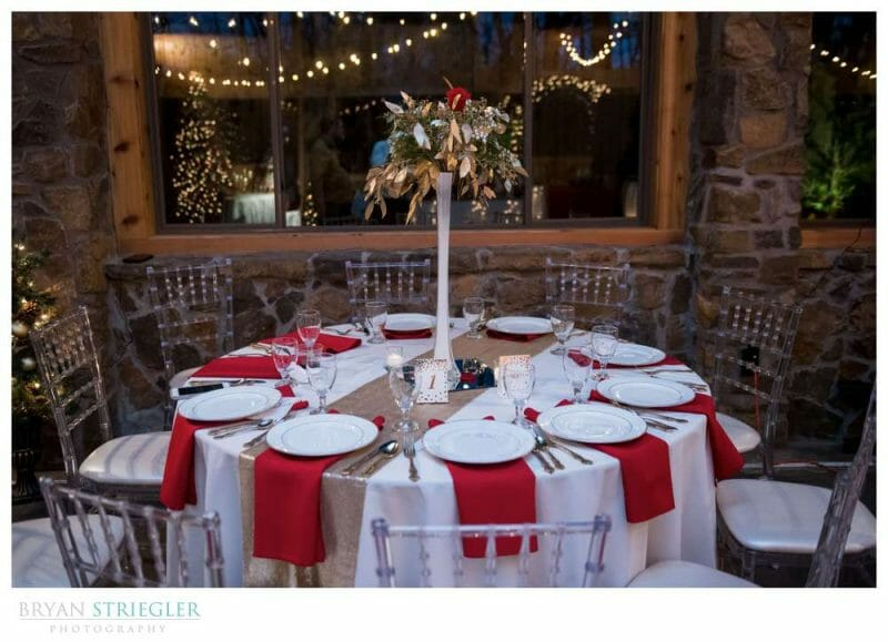 tables at Beauty and Beast themed wedding