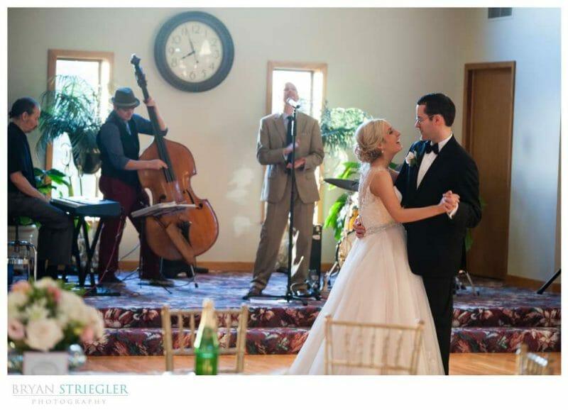 Live band at a wedding