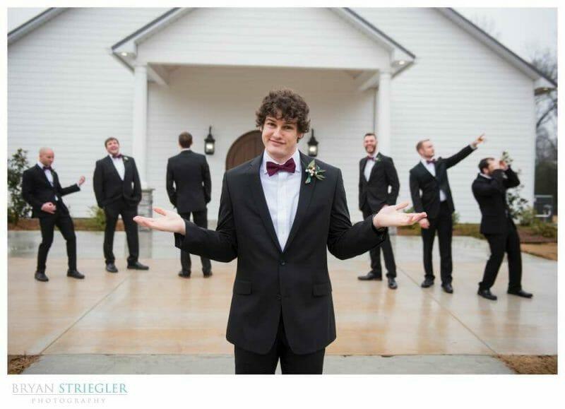 groomsmen being silly