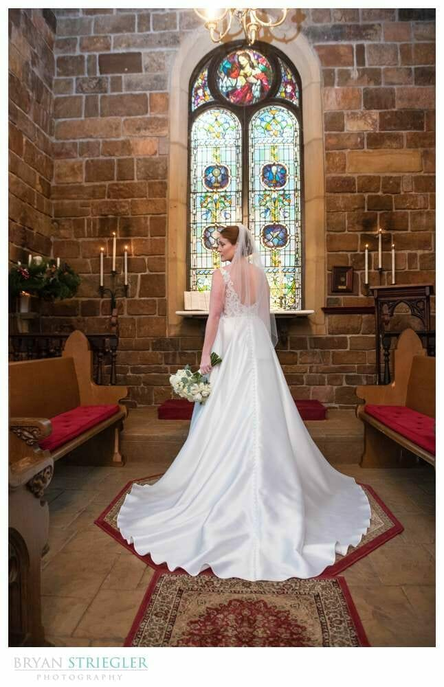bride inside St. Catherine's at Bell Gable