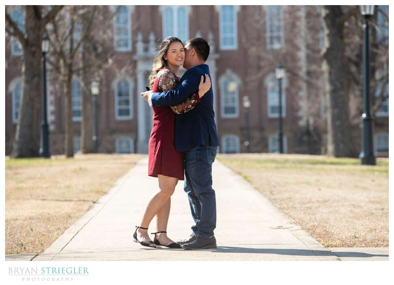 proposal on University of Arkansas campus