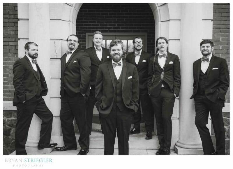 groomsmen hanging out