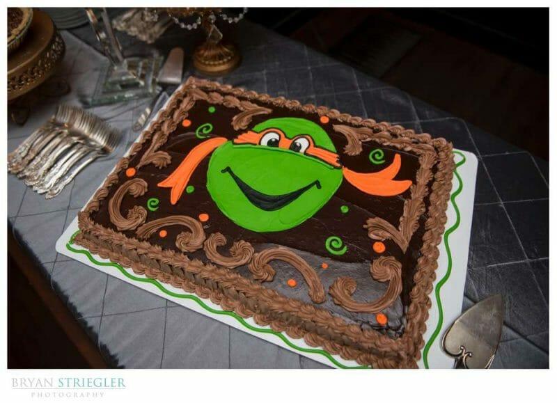 Teenage mutant ninja turtle groom's cake