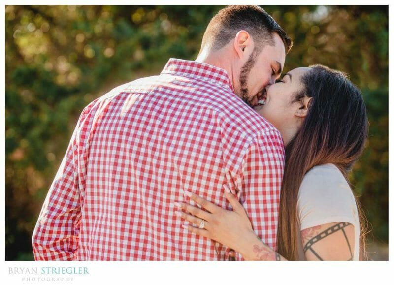 engagement photos at Gulley Park