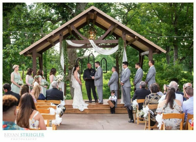 outdoors wedding at Barn at the Springs