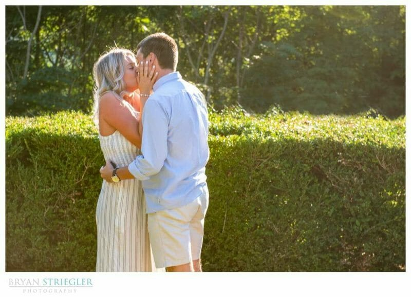 kissing after proposal