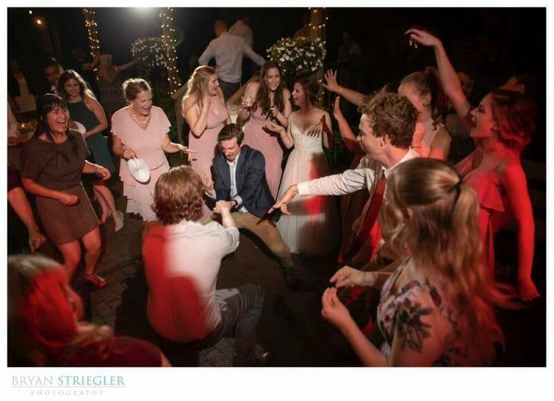 circle dancing at wedding