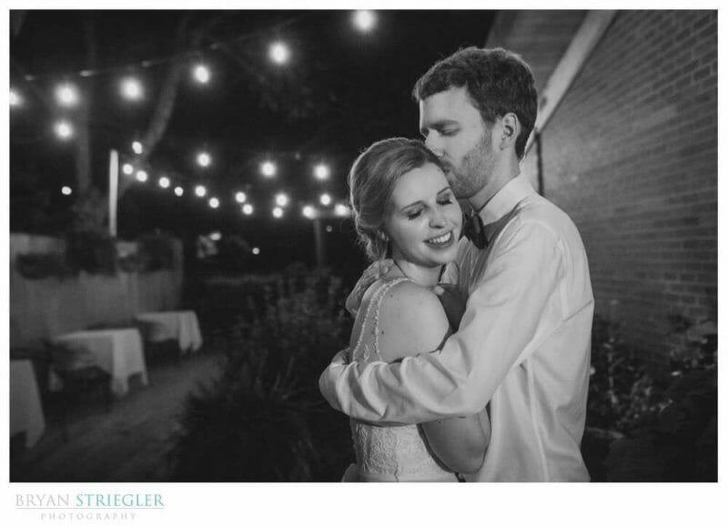 wedding portrait with lights