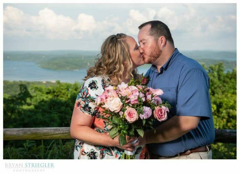 kissing at Whitney Mountain Lodge