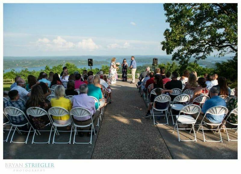 wedding ceremony at Whitney Mountain Lodge
