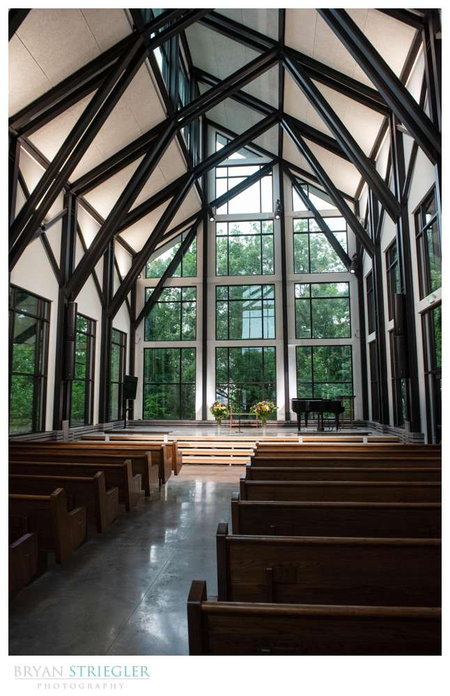 inside of the CLC glass chapel