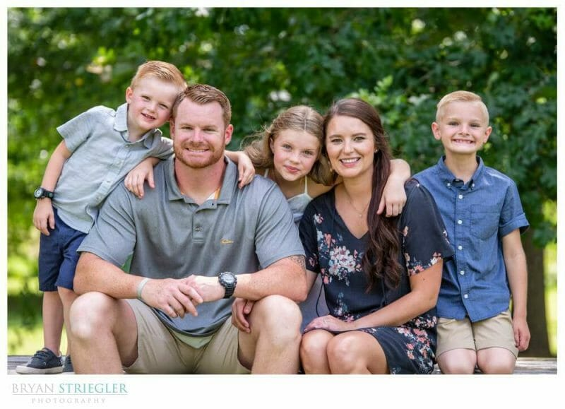 family photo seated