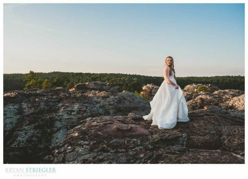 bridal portrait on top of mountain