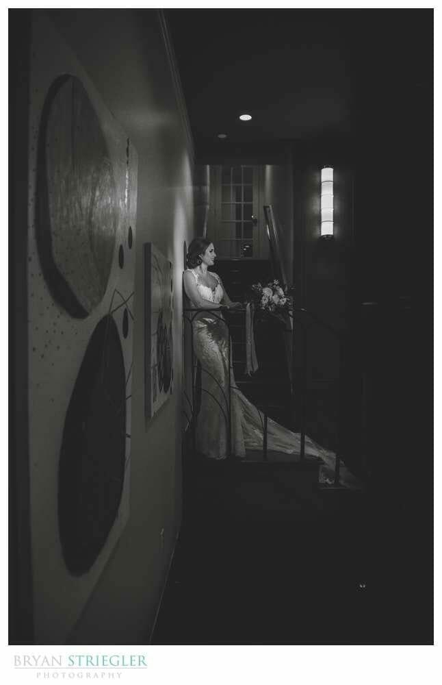 noire style bridal portrait