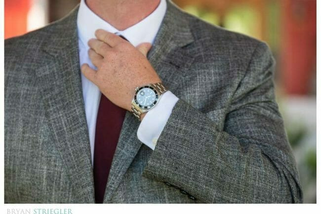 Groom with Rolex watch