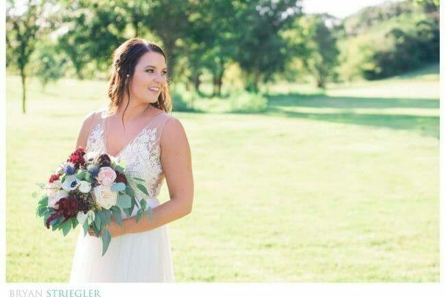bride at Sassafras Vineyard