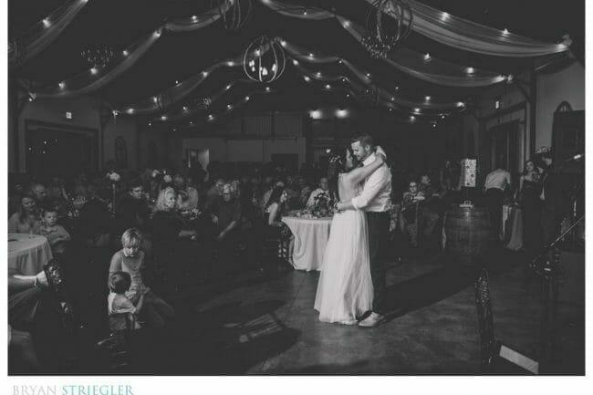 first dance in Sassafras Vineyard