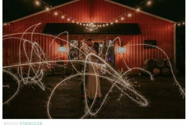 sparkler long exposure
