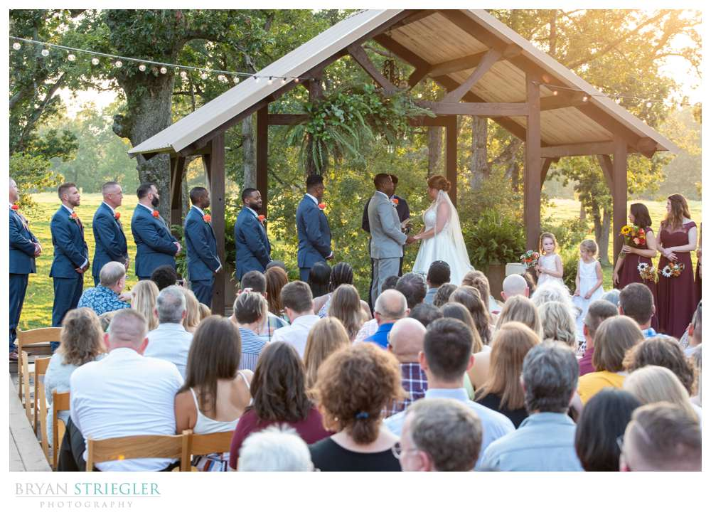 outdoor wedding ceremony Barn at the Springs