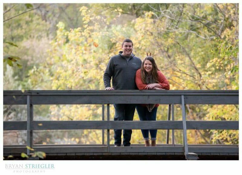 goofy engagement photo